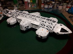 Almost finished (Eagletransporter) Tags: alancarter eagle metaeagle space1999 eagletransporter mpcround2 mikereader moonbasealpha space spacecraft moon