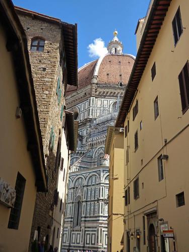 Dome of the Duomo from Via dello Studio, Florence - Dome