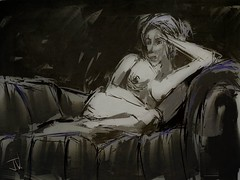 "Reclining Nude (""Jimmer"" ( http://jim-vance.pixels.com )) Tags: figure nude"