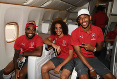 Arsenal Players Depart for Singapore (Stuart MacFarlane) Tags: sport soccer clubsoccer stansted essex unitedkingdom gbr