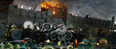 Viking Shield Wall (HarryAndBillyBrick) Tags: vikings lego battle medieval