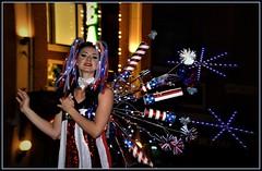Happy4th (VegasBnR) Tags: nikon nevada sigma strip sign lady people 4th july city linq fireworks portrait night geo geografics vegas vegasbnr street