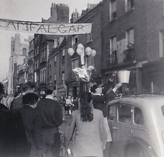 Poppy Day Rag Cambridge 1956 (Bury Gardener) Tags: bw blackandwhite oldies old snaps scans people 1956 1950s cambridge cambridgeshire england uk britain university