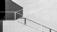 steps down to the river (bilderkombinat berlin) Tags: ⨀2018 berlin museumsinsel stairs steps railing shadow blackwhite bw capital eu city germany europa day construction facade europe deutschland