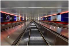 Down Down to the underground (cupitt1) Tags: escalator sydney rail train martin place moving stairway underground