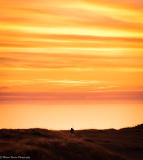 Sunset over Ligger Bay