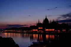 Before the Sunrise (AgarwalArun) Tags: sony a7m2 sonyilce7m2 landscape scenic nature views europe centraleurope hungary budapest danube river hungarian parliament night reflection