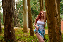 Christiana Tree 25 (TheseusPhoto) Tags: model portrait beautiful pretty colors colorsoftheworld people modeling portraiture sanfrancisco gorgeous trees face redhead hair dress forest sexy pose female woman girl nature body