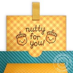 Sunny Studio Stamps Sliding Window Acorn Card #2 (Mendi Y.) Tags: card popup interactive