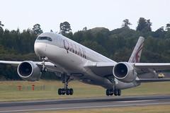 Airbus A350 A7-ALF Qatar Airways - Edinburgh Airport 24/7/18 (robert_pittuck) Tags: airbus a350 a7alf qatar airways edinburgh airport 24718