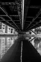 Paris, canal de l'Ourcq, b&w, 5 (Patrick.Raymond (4M views)) Tags: 75019 canal ourcq paris noir et blanc street photo nikon