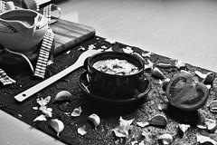 Salmorejo_gastrofoto_13 (Rubén Minsa) Tags: andalucia spain salmorejo tomato soup fresh ham egg food appeteizer spoon blackandwhite vintage summer