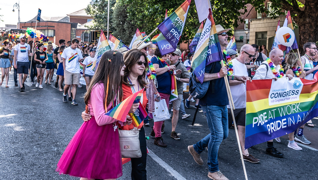 ABOUT SIXTY THOUSAND TOOK PART IN THE DUBLIN LGBTI+ PARADE TODAY[ SATURDAY 30 JUNE 2018] X-100108