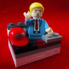 """Nobody builds walls better than me."" (jefalump) Tags: atsh sws lego minifig minifigure maga notmypresident parody"