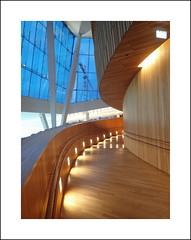 Oslo opera interior study III (Christa (ch-cnb)) Tags: oslo opera norway norge snøhetta architecture wood path walkway olympus tough tg4