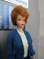 7. Admiring Mr. Sterling (Foxy Belle) Tags: doll dollhouse miniature diorama airport work barbie uniform vintage gray american airlines business madmen roger sterling silkstone playscale ooak 16 scale 1960s