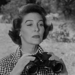 Margaret Hayes with Binoculars, Perry Mason,