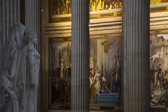 """inside the magnificent Patheon - columns, paintings, statues, light, colour contrasts, Latin Quarter, Paris, France (grumpybaldprof) Tags: panthéon pantheon temple church mausoleum burial memorial celebration """"latinquarter"""" """"stgenevieve"""" neoclassical """"5tharrondissement"""" """"kinglouisxv"""" 1744 """"jacquesgermainsoufflot"""" architect 1790 foucaultpendulum"""" 1851 physicist """"léonfoucault"""" voltaire rousseau """"victorhugo"""" """"émilezola"""" """"jeanmoulin"""" """"louisbraille"""" paris france statues paintings columns light contrastmagnificence atmosphere moody atmospheric canon 7d """"canon7d"""" tamron 16300 16300mm """"tamron16300mmf3563diiivcpzdb016"""""""