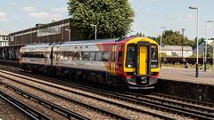 158880 (JOHN BRACE) Tags: 1992 brel derby built class 158 dmu 158880 158737 seen eastleigh south western railway branded west trains livery