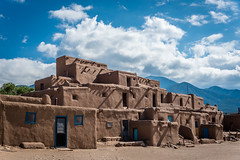 Taos Pueblo (kellyjrusso) Tags: pueblo d750 nikon newmexico house outdoors taos sunlight sky outdoor clouds