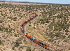 BNSF 5803 SALTOIG1-26 6/30/18 AZ (Ray C. Lewis) Tags: seligmansub bnsf burlingtonnorthernsantafe trains railroads railfanning northernarizona arizona intermodal transportation