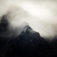 Sgurr Sgumain 5 (amcgdesigns) Tags: andrewmcgavin skye clouds cloudsstormssunsetssunrises sgurrsgumain cuillin blackcuillin atmospheric drama dramatic dark crags cliffs squarecrop eos7dmk2 canon100400mm scotland scottishweather scottish scottishlandscape scottishmountains