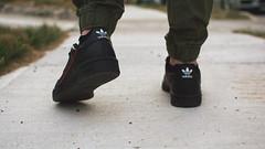 adidas continental 80 (viewsfromthe519) Tags: adidas continental 80 black leather kicks sneakers shoes tennis 80s retro style sneakerhead ontario canada stt stthomas 3stripes trefoil joggers bokeh