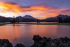 Sunset at Sparks (TierraCosmos) Tags: lake sparkslake dramaticsky sunset cascades brokentop mountain southsister centraloregon oregon