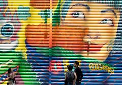 Mural (Photographs By Wade) Tags: newyorkcity newyork manhattan mural worldtradecenter 911memorial people color colorful