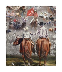 Calgary Stampede Poster 2018 (Mr. Happy Face - Peace :)) Tags: cowtown stampede 2018 art2018 unknown horses july summer calgary alberta canada poster yyc
