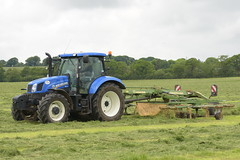 New Holland T6.175 Tractor with a Krone Swardo TC760 Rake (Shane Casey CK25) Tags: new holland t6175 tractor with krone swardo tc760 rake cnh nh blue casenewholland newholland rathcormac traktor traktori trekker tracteur trator ciągnik silage silage18 silage2018 grass grass18 grass2018 winter feed fodder county cork ireland irish farm farmer farming agri agriculture contractor field ground soil earth cows cattle work working horse power horsepower hp pull pulling cut cutting crop lifting machine machinery nikon d7200