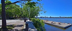 Esplanade and Dock (AntyDiluvian) Tags: boston massachusetts backbay esplanade river charlesriver dock sunning tanning
