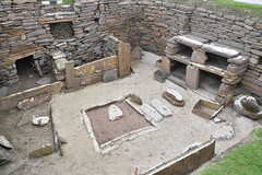 Home From Home (PLawston) Tags: uk britain scotland orkney mainland skara brae neolithic village interior fireplace