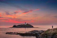Godrevy, West Cornwall (DM Allan) Tags: godrevy island qwithian cornwall sunset evening sky sea coast nationaltrust