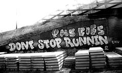 graffiti along the railway (wojofoto) Tags: graffiti nederland netherland holland trackside railway spoor spoorweg wojofoto wolfgangjosten blackandwhite monochrome zwartwit pms fofs