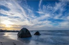Hohwacht Beach (gsegnet) Tags: strand beach steine stones meer ocean ostsee balticsea wolken clouds sonnenuntergang sunset deutschland germany schleswighollstein hohwacht nikon tamron haida