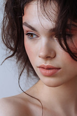 Brunette beauty (honey and milk) Tags: beauty portrait canon face natural lovely attractive beautiful skin paleskin blush brunet brunette lips