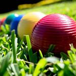 Croquet balls in a line thumbnail