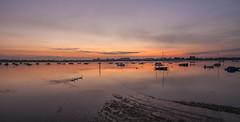 Slipway (Visible Landscape) Tags: uk england westsussex visiblelandscape bosham boats sunset swans