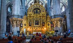 2018 - Mexico City - Metropolitan Cathedral - 2 of 3 (Ted's photos - Returns 23 Jun) Tags: 2018 cdmx cityofmexico cropped mexico mexicocity nikon nikond750 nikonfx tedmcgrath tedsphotos tedsphotosmexico vignetting thealtarofforgiveness altar metropolitancathedral pews seating seats pilars church churchinterior gold gilded