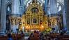 2018 - Mexico City - Metropolitan Cathedral - 2 of 3 (Ted's photos - Returns Early June) Tags: 2018 cdmx cityofmexico cropped mexico mexicocity nikon nikond750 nikonfx tedmcgrath tedsphotos tedsphotosmexico vignetting thealtarofforgiveness altar metropolitancathedral pews seating seats pilars church churchinterior gold gilded