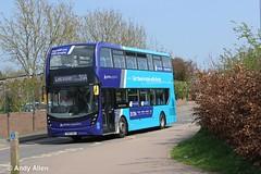Arriva Midlands 4543 YY67HDJ (Andy4014) Tags: arriva sapphire midlands leicester oadby enviro 400 mmc yy67hdj 4543