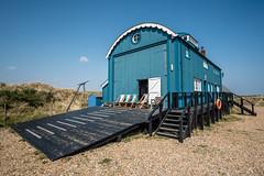 Blakeney Lifeboat House (Neal_T) Tags: beach blakeney blakeneypoint blakeneyspit coast fuji fujifilm lifeboathouse nationaltrust norfolk sand spring sun cley uk norwich