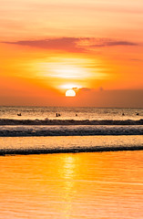Another days end (SemiXposed) Tags: bali kuta indonesia hot summer vacation holidays sony waves people swimming