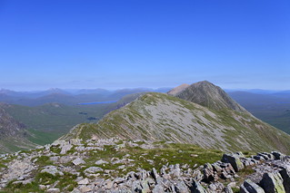 The Buachaille's ridge from Stob na Broige