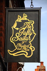Pub sign for the Jolly Sailor, Canterbury. (Peter Anthony Gorman) Tags: pubsigns jollysailor canterburypubs kentpubs