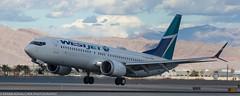 Westjet 737 landing at KLAS (Alaskan Dude) Tags: travel las klas mccarren mccarreninternationalairport planespotting airplanes airliners airliner aviation planewatching