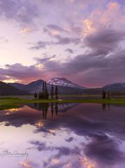 Sunset at Sparks Lake.( Bend, Central Oregon). (Sveta Imnadze) Tags: nature sunset sparkslake or centraloregon reflection