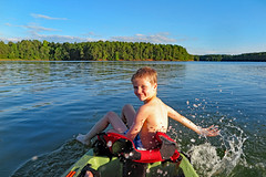 Kid Kayak (FAIRFIELDFAMILY) Tags: kayak kayaking paddling lake monticello grant carson jason michelle water boat boating child young perception pescador dagger mamba summer fun pretty outside nature sunset fairfield county sc south carolina river sky boy brother splash red mud island floating explore exploring southern living play playing