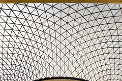British canopy (Maerten Prins) Tags: england engeland brittain london londen britishmuseum museum foster greatcourt roof steel glass triangles lines curves transparant geometry geometric upshot up above sky symmetry architecture